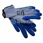 Heavy Duty Glove Medium Rubber Palm Coated String Knit