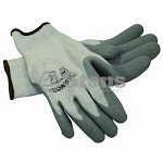 Gray Thermal Glove Latex Palm Coated, Large