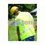 CLASS 2 LIME SAFETY VEST / HOOK AND LOOP CLOSURE X-LARGE