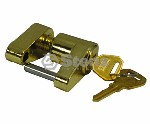 COUPLER LOCK / YELLOW ZINC PLATED