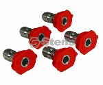 COMPOSITE SPRAY NOZZLE / 3.0 SIZE, RED, 5 PACK