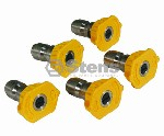 COMPOSITE SPRAY NOZZLE-5 PACK / 3.0 NOZZLE SIZE, COLOR YELLOW
