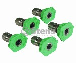 COMPOSITE SPRAY NOZZLE / 3.0 SIZE, GREEN, 5 PACK