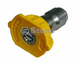 QUICK COUPLER NOZZLE / 15 DEGREE, SIZE 4.0, YELLOW