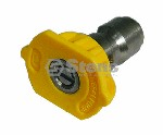 QUICK COUPLER NOZZLE / 15 DEGREE, SIZE 4.5, YELLOW