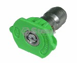 QUICK COUPLER NOZZLE / 25 DEGREE, SIZE 4.0, GREEN