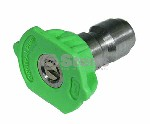 QUICK COUPLER NOZZLE / 25 DEGREE, SIZE 5.0, GREEN