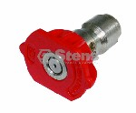 QUICK COUPLER NOZZLE RED / 0 DEGREE 3.5 SIZE
