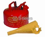 EAGLE METAL SAFETY GAS CAN 1 GALLON WITH FUNNEL