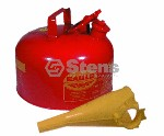 EAGLE METAL SAFETY GAS CAN 2 GALLON WITH FUNNEL