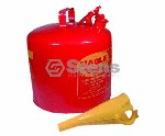 EAGLE METAL SAFETY GAS CAN 5 GALLON WITH FUNNEL