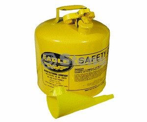 EAGLE METAL SAFETY DIESEL CAN 5 GALLON WITH FUNNEL