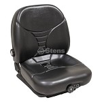 Commercial Low Profile Suspension Seat Universal Black Color